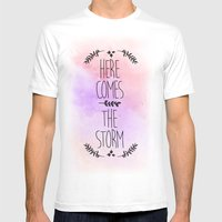 Here comes the Storm Mens Fitted Tee White SMALL
