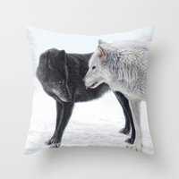 ebony and ivory   Throw Pillow