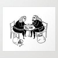 Thick as Thieves 2 Art Print