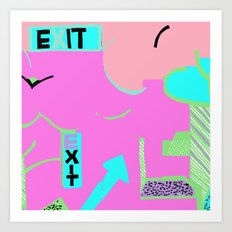 Exit in hot pink Art Print