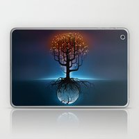Tree, Candles, and the Moon Laptop & iPad Skin