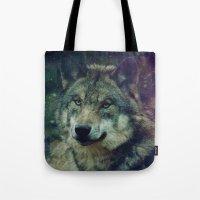 WOLF II colored Tote Bag