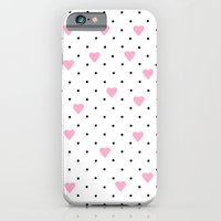 Pin Point Hearts Pink iPhone 6 Slim Case