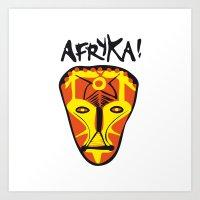 Afryka! Art Print