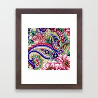 Floral Deco Framed Art Print