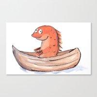 Sailing Goldfish Canvas Print
