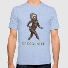 Sassquatch Mens Fitted Tee Tri-Blue SMALL