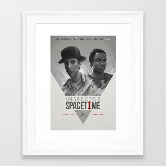 Inspector Spacetime  Framed Art Print