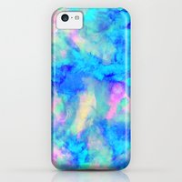iPhone 5c Cases featuring Electrify Ice Blue by Amy Sia