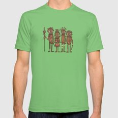 The cannibals Mens Fitted Tee Grass SMALL