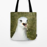 Bird shouting Tote Bag
