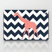 Giraffe on Chevron Background iPad Case