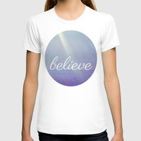 Believe {Purple Version} Womens Fitted Tee White SMALL