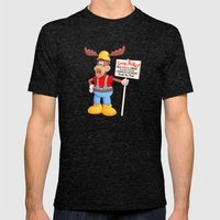 Wally Mens Fitted Tee Tri-Black SMALL
