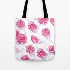 Rose in Pink Waters Tote Bag