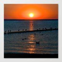 Summer Sunset on the Baltic Sea Canvas Print