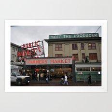 Market Street, Seattle, Washington Art Print