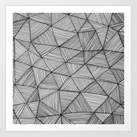 Angular Stripes Art Print