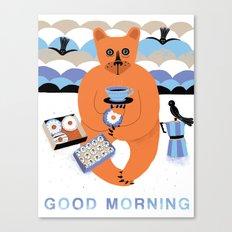 Good morning Bear Canvas Print