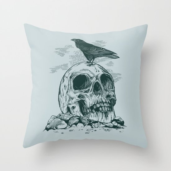 Raven's Cliff Throw Pillow