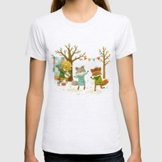 Critters: Spring Dancing Womens Fitted Tee Ash Grey SMALL