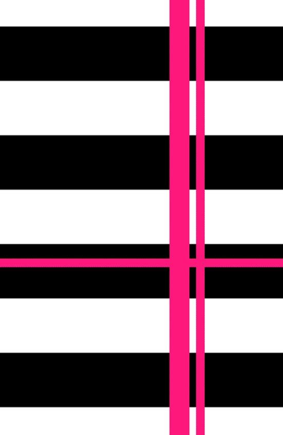 Black, white and neon pink stripes Art Print