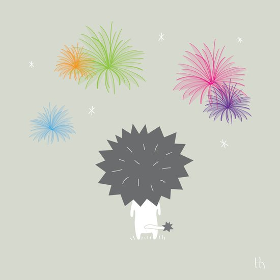 The Happy Fireworks Art Print
