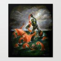 Sea Battle Masterpiece R… Canvas Print