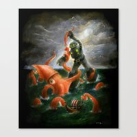 Sea Battle Masterpiece R… Canvas Print