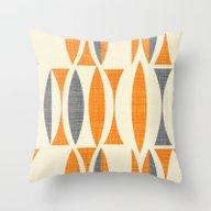 Seventies  Orange Throw Pillow