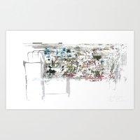 take a breath [ABSTRACT]  Art Print