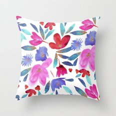 LeiLani Flower Throw Pillow