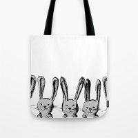 Rabbit Family Tote Bag