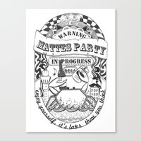 Mattes Party Canvas Print