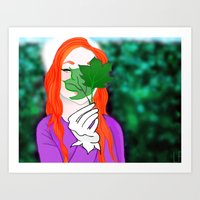 Snowy Willow Art Print