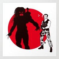 Predator Cartoon Style Art Print