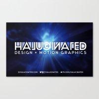 Halucinated Design + Mot… Canvas Print