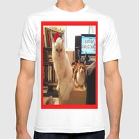 LES CATASTROPHES XMAS ED… Mens Fitted Tee White SMALL