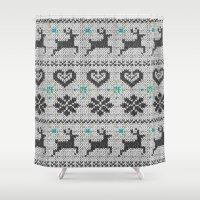 Scandinavian Knitting (B… Shower Curtain