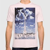 Tower Tourists in Reverse Mens Fitted Tee Light Pink SMALL