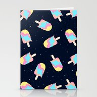 Popsicles In Space Stationery Cards