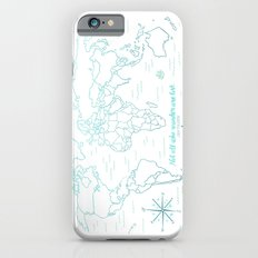 Where We've Been, World, Icy Blue Slim Case iPhone 6s