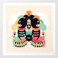 Maoshi & Jun Art Print