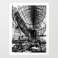 Airship under construction Art Print