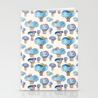 thousands of little blue trees Stationery Cards