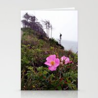 Pink Wild Rose, Gravels … Stationery Cards