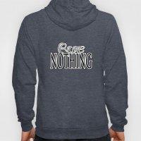 Rue Nothing Original Logo White and Black 2 Hoody
