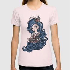 The Cat Mistress Womens Fitted Tee Light Pink SMALL