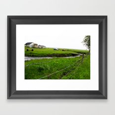 past the wire Framed Art Print