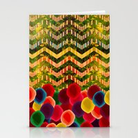 Chevron And Dots Stationery Cards